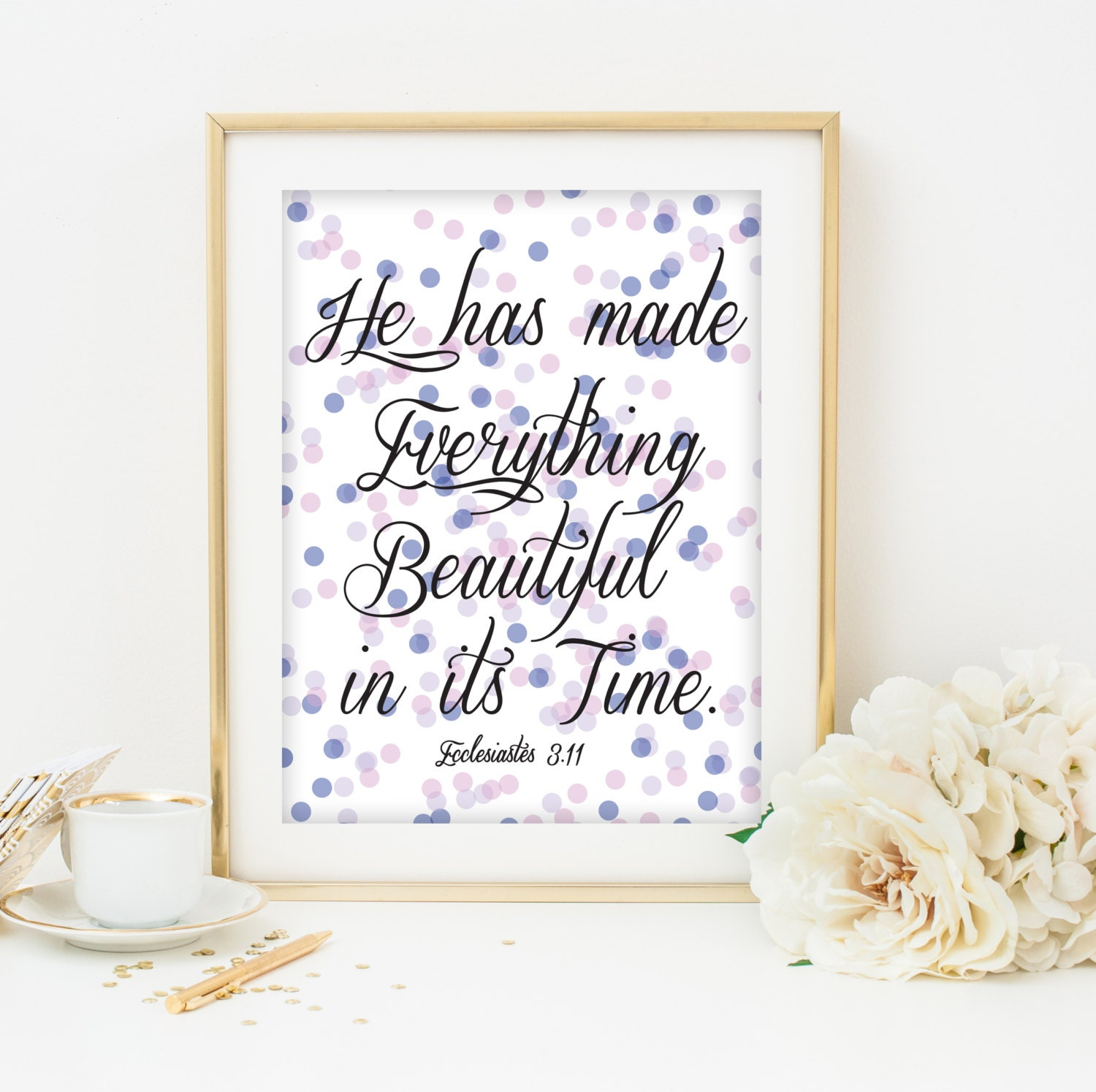 Wall Decor With Bible Verses : Bible verse art print printable wall decor scripture christian