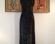 Fabulous 1960s Floor Length Sequined Gown--Sparkly and Glamorous