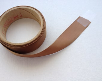 "7/8"" Brown Satin Ribbon 3 Yards"