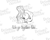 We Go Together Like Bacon and Eggs Digital Stamp Art/ KopyKake Image