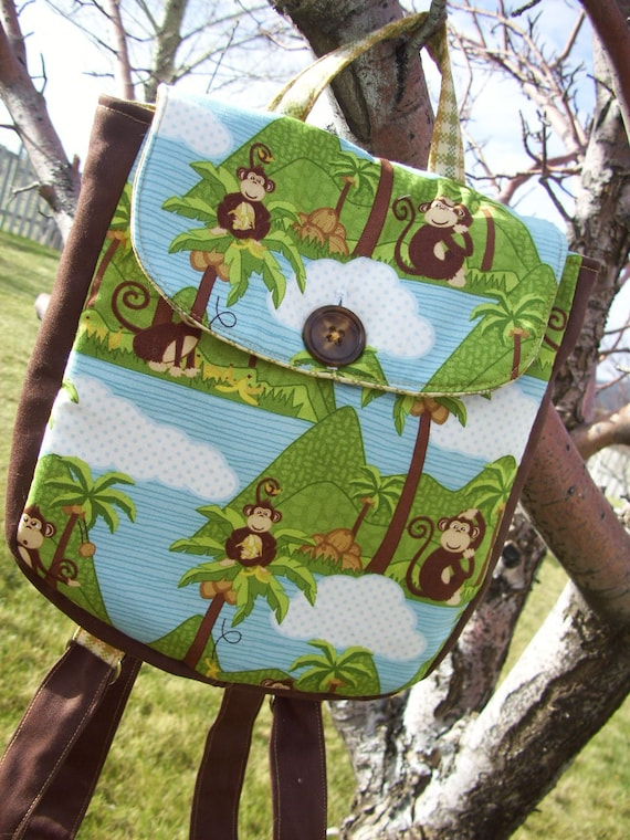Monkey Toddler Backpack
