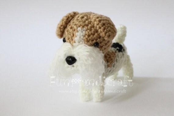 Fox Terrier Amigurumi Patron : Art?culos similares a Wire Fox Terrier Amigurumi Dog ...