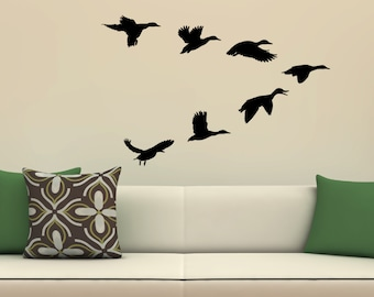 Ducks decal etsy for Duck hunting mural
