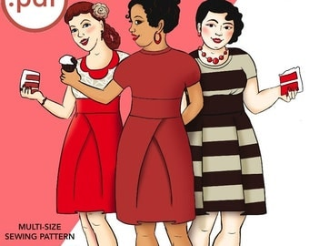 pdf Red Velvet Knit Dress Cake Patterns #0369