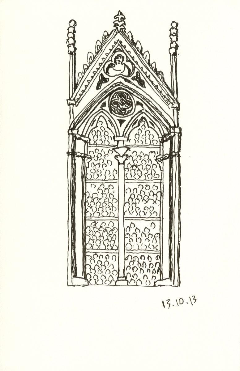 La finestra nel duomo di siena 11 in x 14 in signed print - La finestra siena ...