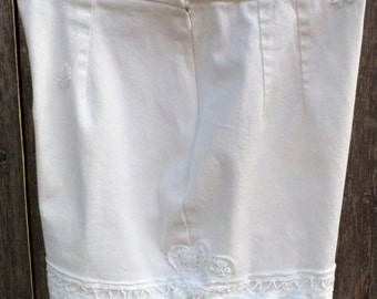 High Waist White Shorts - Size 8 - Upcycled, Recycled, Repurposed Clothing