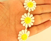 White and Yellow Embroidery One Yard Lace Trim