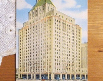 Vintage Postcard, Hotel Manger, Boston, Massachusetts - 1930s Paper Ephemera