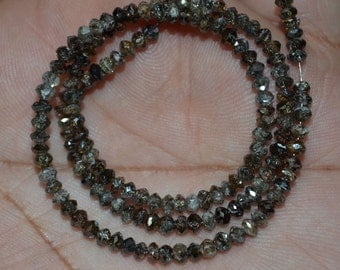 AAA Quality Brown Diamond Roundel Faceted 3 mm