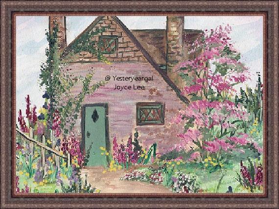 Victorian Art Print    8 x 10  Cherry Lane