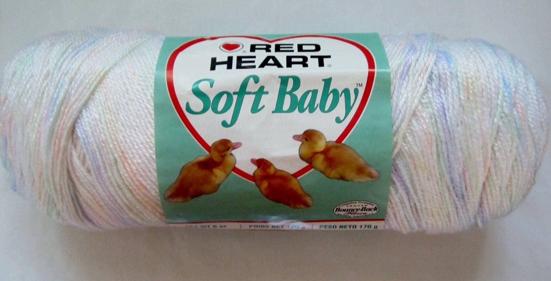 Red Heart Soft Baby Yarn 7951 Angel Printvariegated Yarn