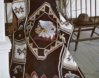 American Indian Crochet Blanket Pattern