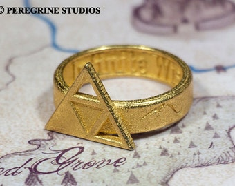 Triforce Ring of Wisdom (Stainless Steel) Legend of Zelda