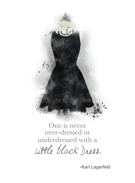 items similar to little black dress karl lagerfeld quote