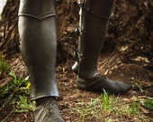 Leather Anatomical Greaves Leg Armor