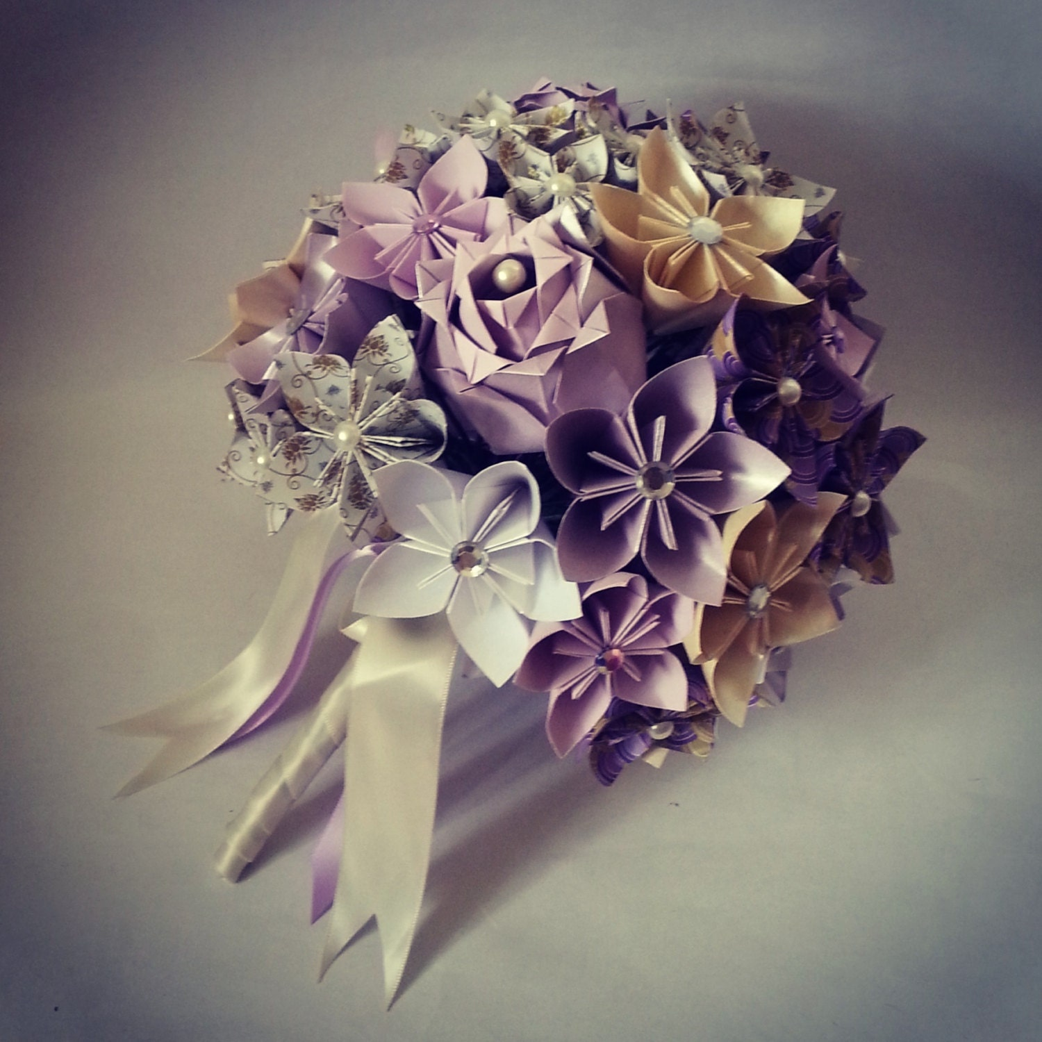 Origami Paper Flowers Bouquet Roses Kusudama Spring Wedding