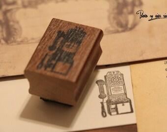 Korean wooden wood square Old Phone Rubber Stamp Set stamp up stampin up