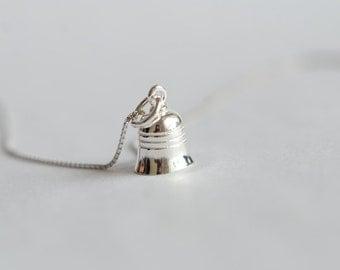 925 Sterling Silver Bell Lovely Pendant 489