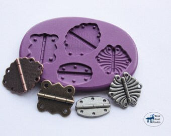 Multi Hinge Mold/Mould -Silicone Molds - Vintage Industrial Steampunk - Polymer Clay Resin Fondant