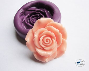 Large Rose Mold/Mould -  Silicone Mold - Flower - Polymer Clay Resin Fondant