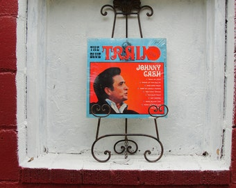 "Johnny Cash ""The Blue Train"" Share Label Vinyl LP Record 33-1/3 RPM"
