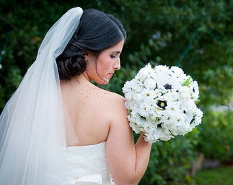 Rustic Wedding Bouquet / Anemone Rose and Daisy Silk Bridal Bouquet / Silk Wedding Flowers / Country Wedding / Rustic Wedding / Fall Wedding