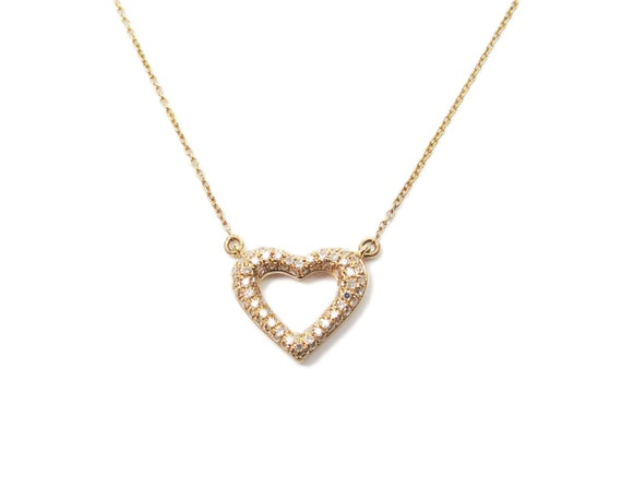 Diamond Necklace Wedding Gift : ... ). Anniversary gift, gold necklace, bridal necklace, bridal jewelry
