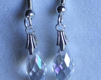 Crystal briolette earrings 0639EA