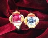 "Replica Tudor Style Gold-Plated ""Diamond"" Ring for Renaissance/Elizabethan Reenactment - Large Size"