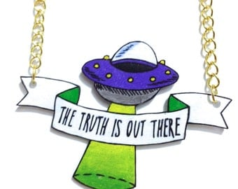 X-Files 'The Truth is Out There' Necklace