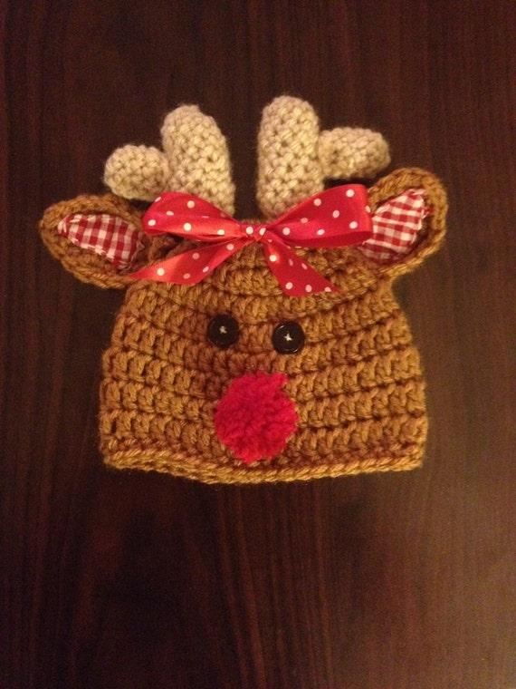 Free Crochet Patterns For Reindeer Hats : Crochet Reindeer Hat