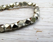 Silver-plated brass faceted beads - cornerless cubes (12) 4/4.5 x 4/4.5mm, brass beads, spacer beads, faceted beads