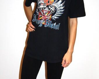 15 dollar__ SALE___Vintage Heavy Metal T-Shirt