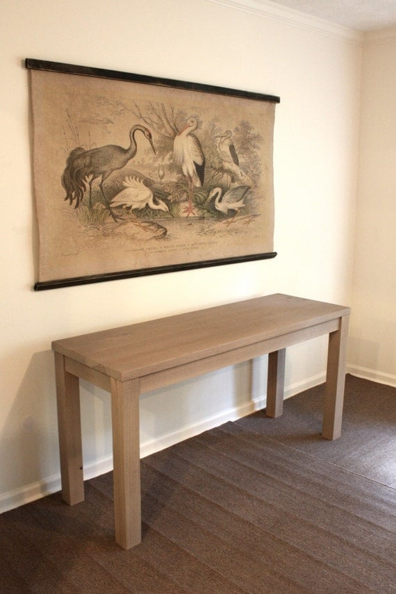 Reclaimed Wood Parsons Console Table Narrow Desk Table