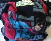 Night Time One Size fleece Cloth Diaper cover - Superman
