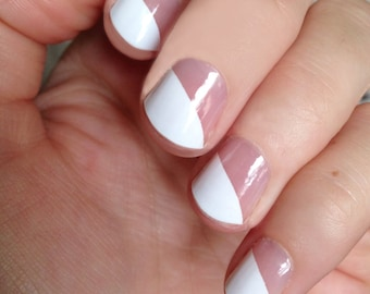 White Modern French Transparent Nail Wraps