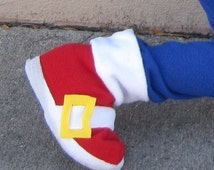 SHOE COVERS ONLY- Sonic The Hedgehog inspired boys costume