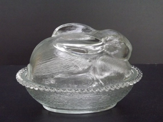 Vintage, Bunny candy dish