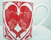 Love Birds- Bone China Cup