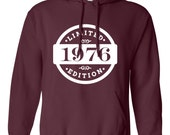 1976 Limited Edition 2016 Birthday Hoodie 40th Birthday Gift Mens Womens Ladies Hoodie Hooded Sweatshirt Sweater Unisex Modern Custom B-399