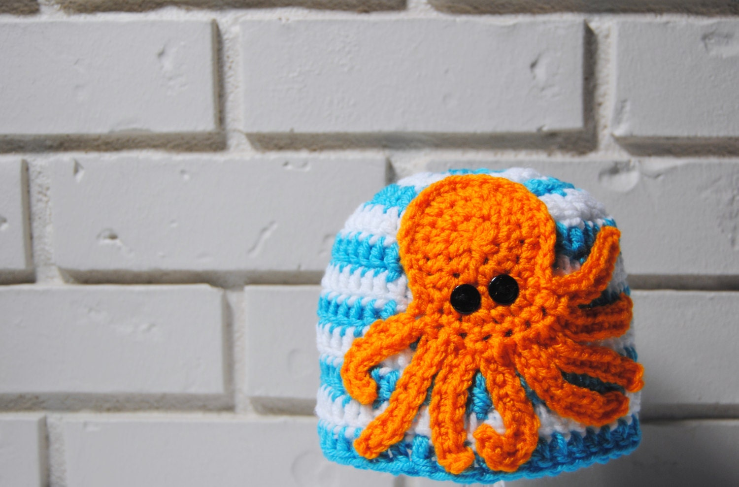 Octopus Crochet Hat Nautical Baby hat Newborn Photo by ToryMakes