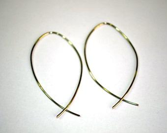 Featherweight Fish Hoop Earrings