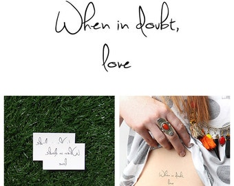 Answers - Temporary Tattoo (Set of 2)