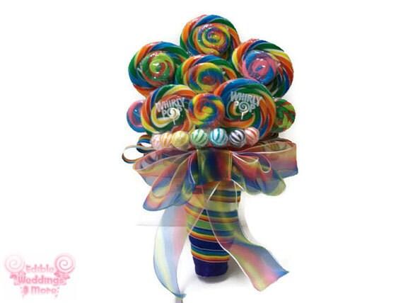 Rainbow Lollipop Wedding Bouquet Rainbow Bouquet By