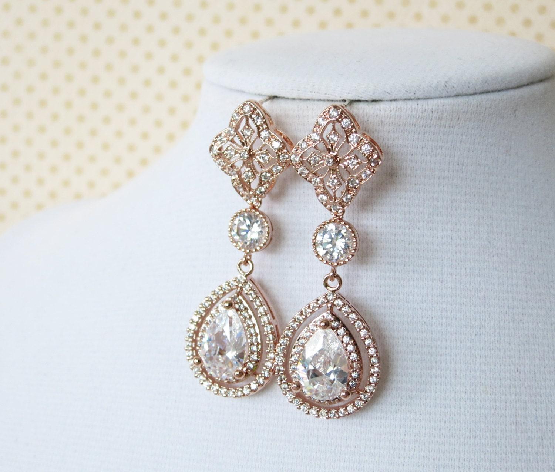 Rose Gold Bridal Jewelry