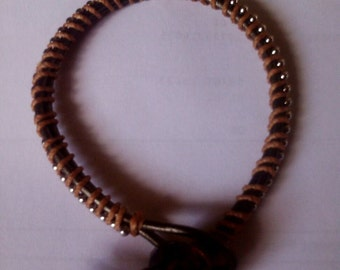 Manly Leather Wrap Bracelet