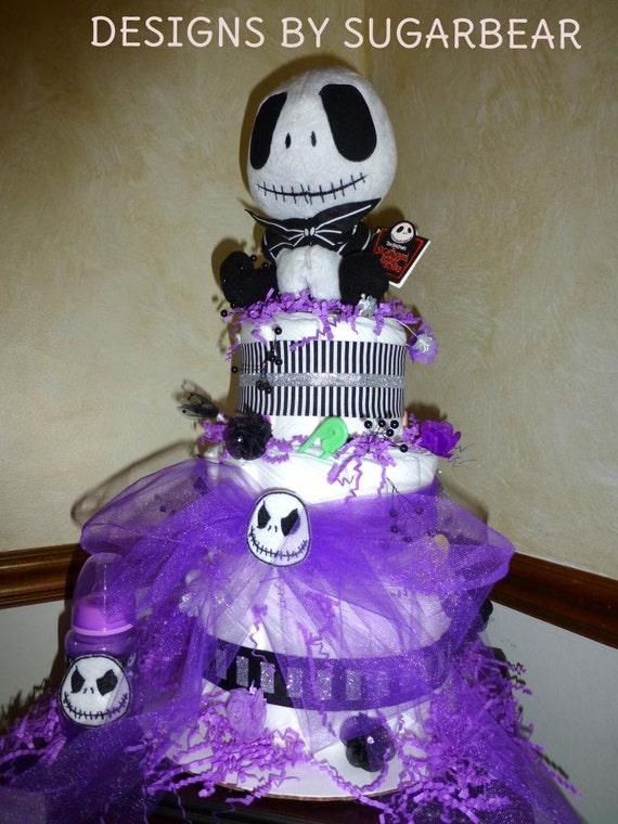 jack skellington diaper cake adorable unisex baby shower centerpiece