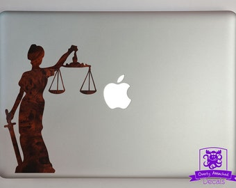 Lady Justice Decal Macbook Laptop