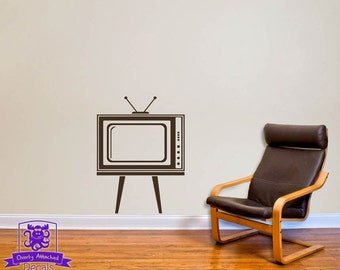 Retro TV Wall Decal Decor
