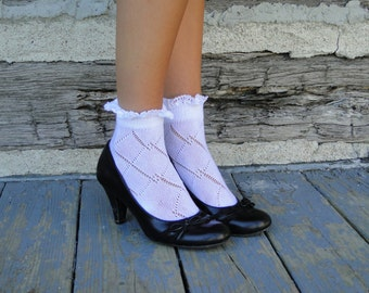 Baby Boot Socks with Lace - Bobby Socks